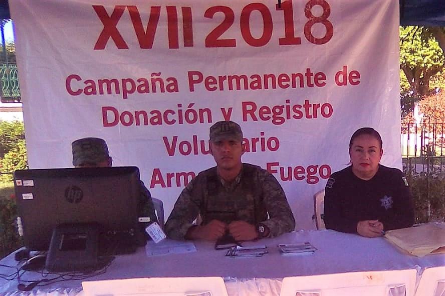 ABREN MÓDULO DE DONACIÓN DE ARMAS DE FUEGO Y EXPLOSIVOS EN VILLA UNIÓN