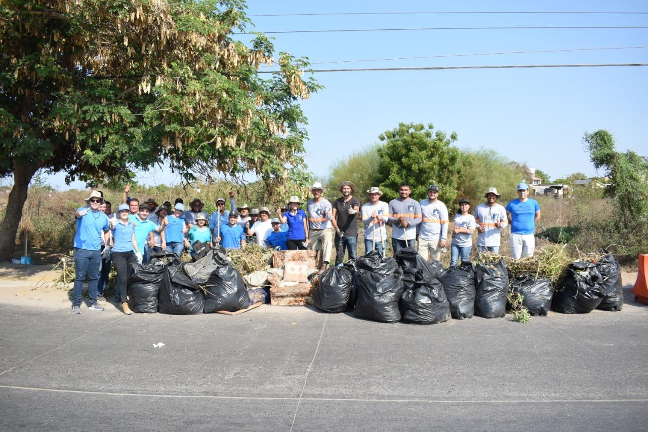 Jumapam participa en la primera jornada de limpieza del Gobierno de Mazatlán
