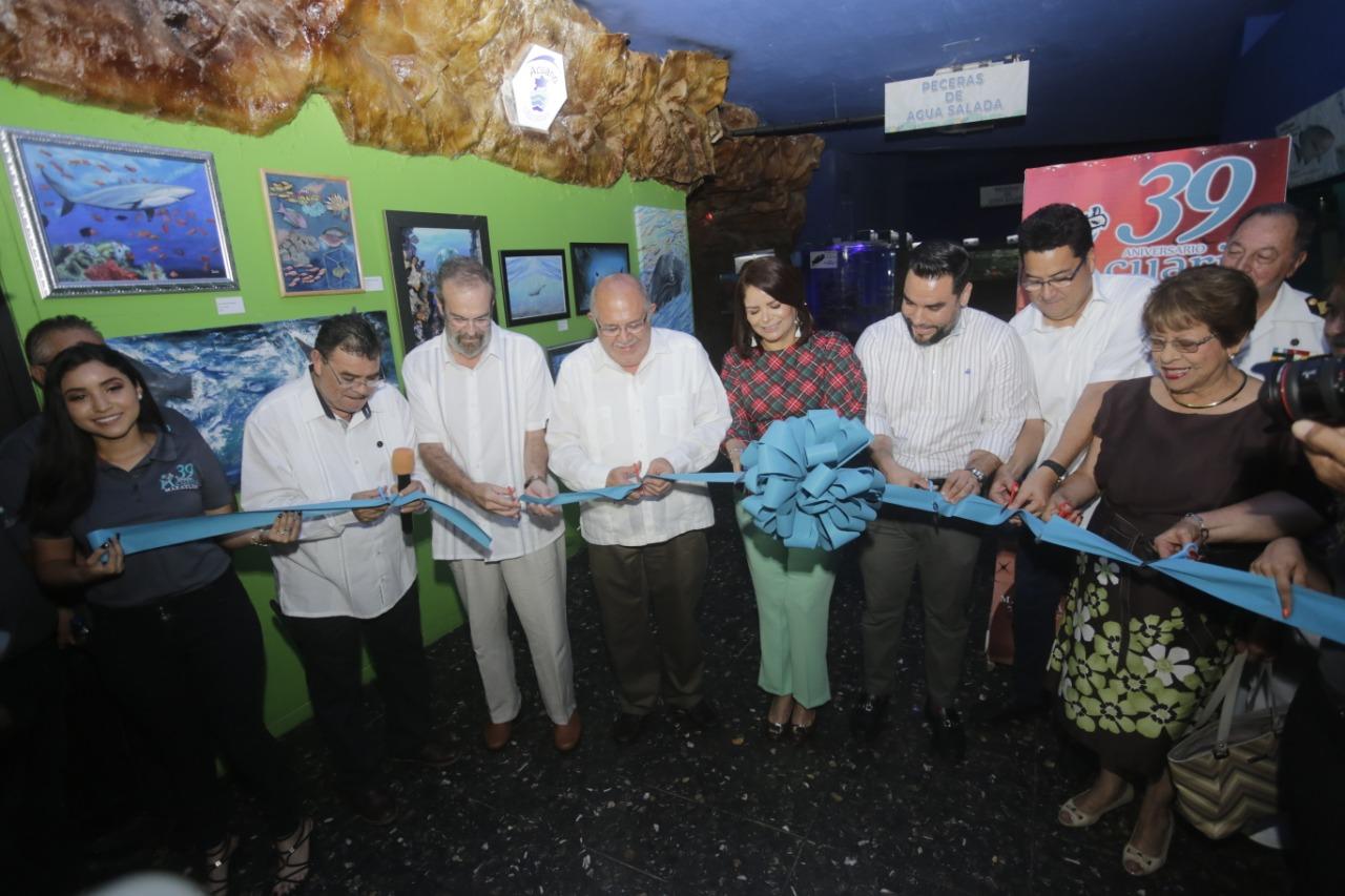 Celebran con bombo y platillo 39 aniversario de Acuario Mazatlán