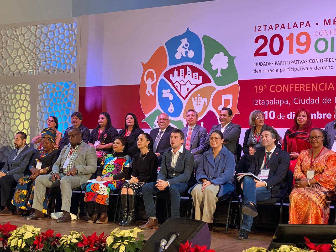 Participa el Alcalde, Químico Benítez Torres, en la 19 Conferencia OIDP, en compañía de Clara Brugada, Alcaldesa de Iztapalapa y Caludia Sheinbaum, Jefa de Gobierno de la CDMX