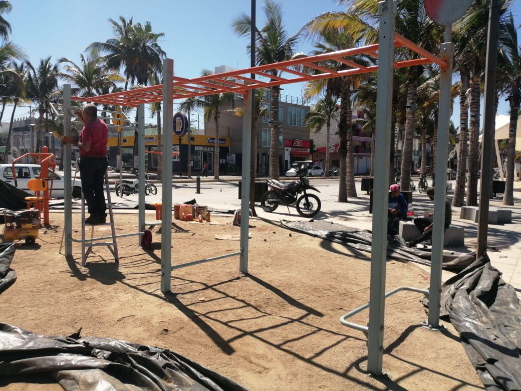 Culmina Imdem segunda etapa de rehabilitación en gimnasio de Playa Norte