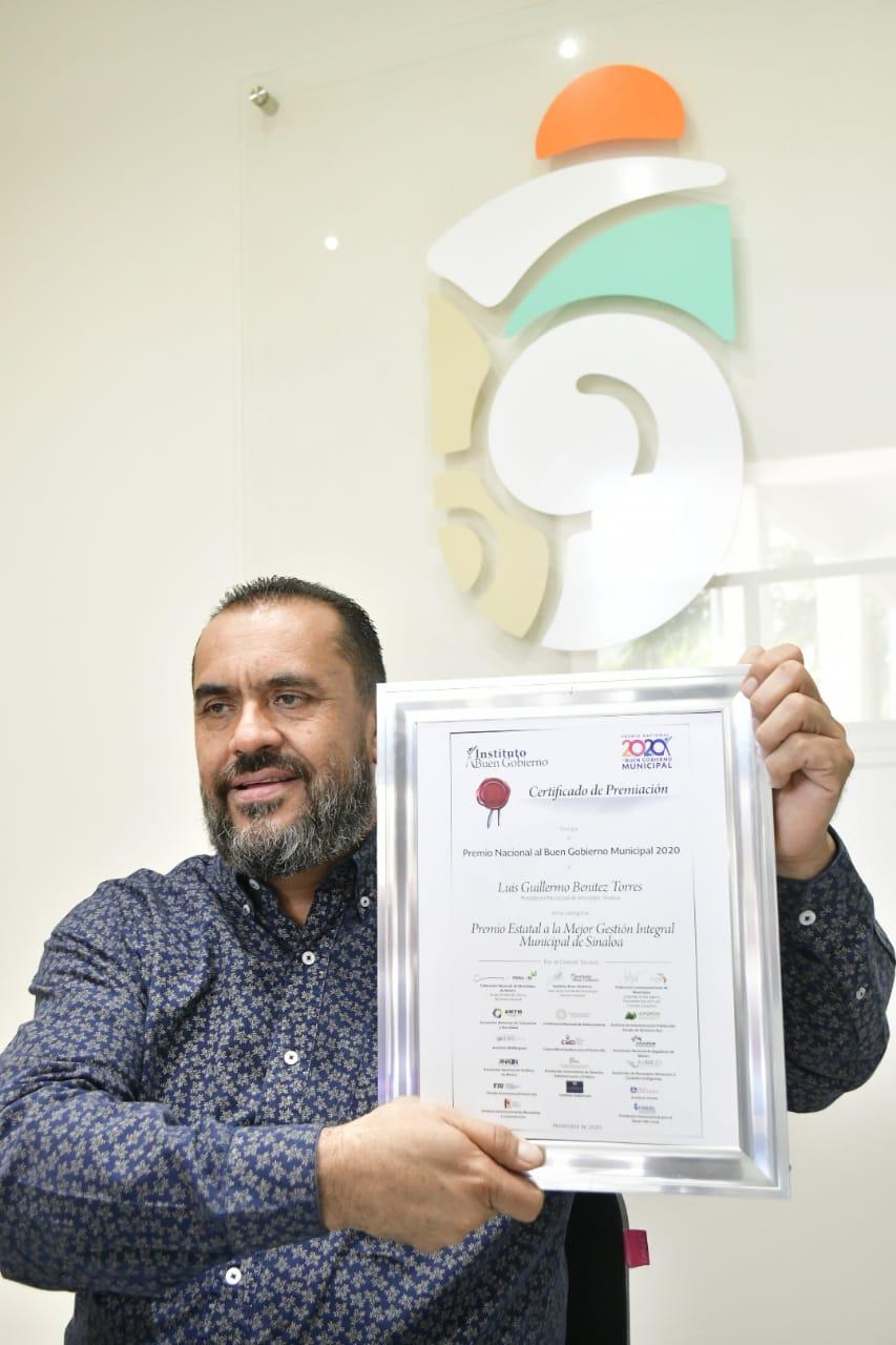 Recibe Mazatlán el Premio Estatal a la Mejor Gestión de Sinaloa 2020