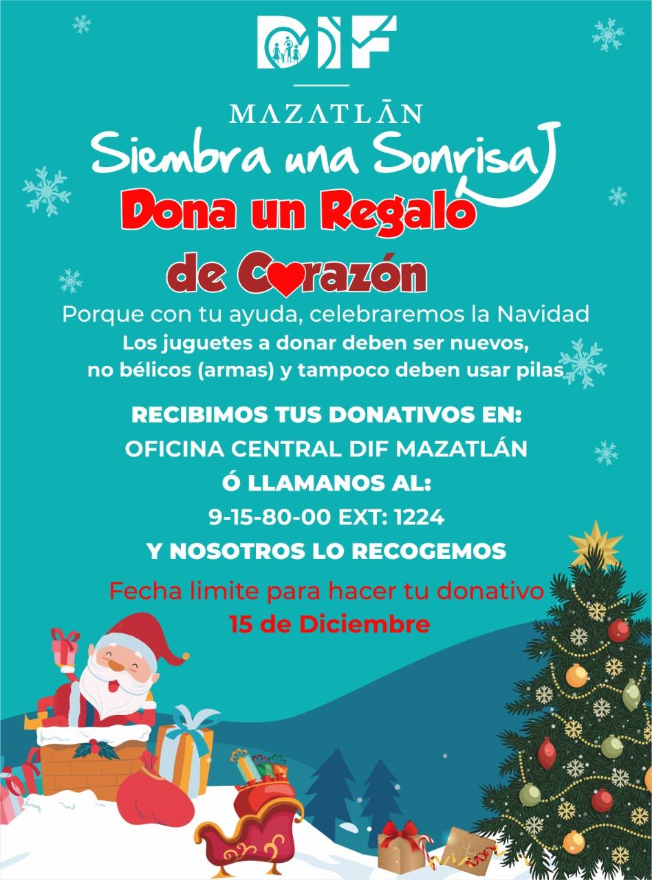 DIF Mazatlán arranca Campaña de Donación de juguetes para niñas y niños en situación de vulnerabilidad