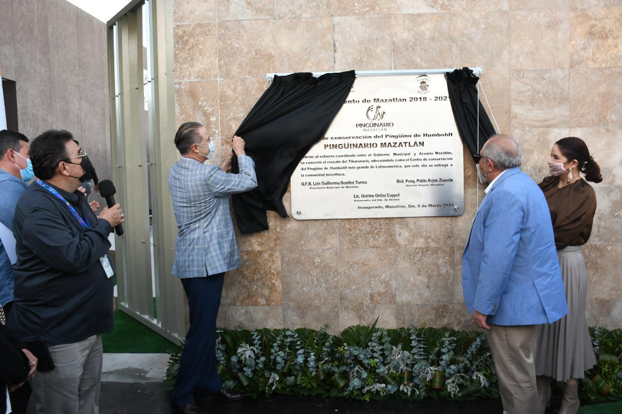 Inauguran primera etapa del Pingüinario Mazatlán